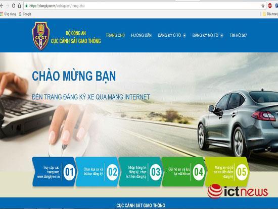Thí điểm đăng ký xe ô tô qua mạng Internet tại Hà Nội, TP.HCM
